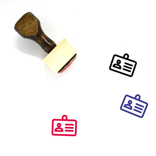 Id Card Wooden Rubber Stamp No. 56