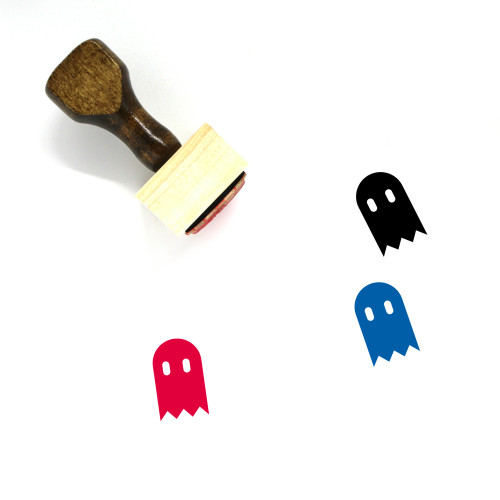 Ghost Wooden Rubber Stamp No. 34
