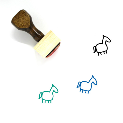 Horse Wooden Rubber Stamp No. 44