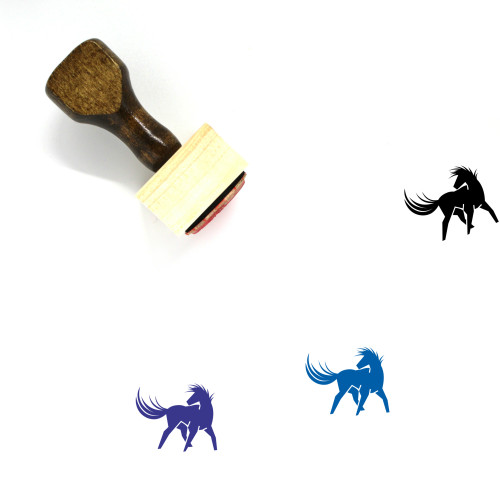 Horse Wooden Rubber Stamp No. 46