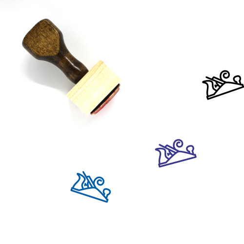 Wood Plane Wooden Rubber Stamp No. 3