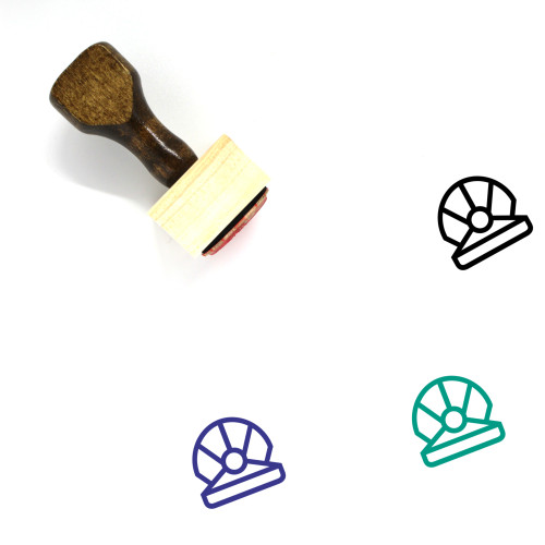 Pearl Wooden Rubber Stamp No. 43