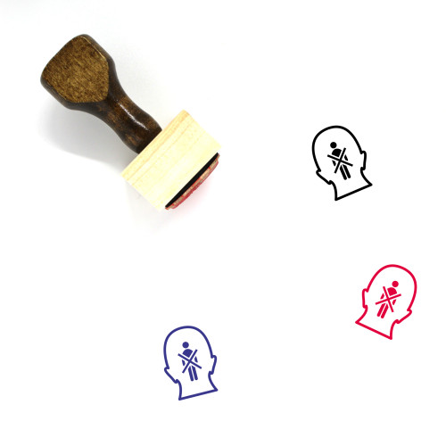 Prejudice Wooden Rubber Stamp No. 2