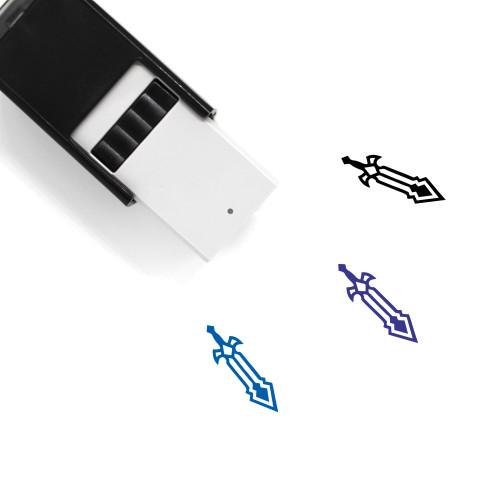 Swords Self-Inking Rubber Stamp No. 75
