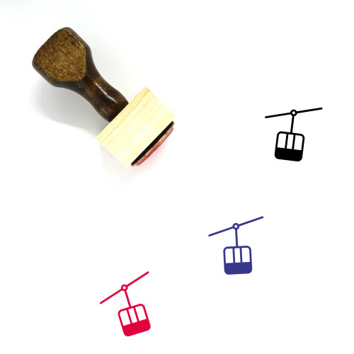 Gondola Wooden Rubber Stamp No. 1
