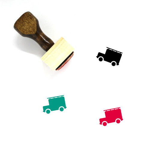 Fire Truck Wooden Rubber Stamp No. 31