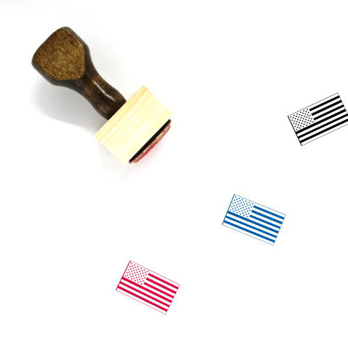 American Flag Wooden Rubber Stamp No. 29
