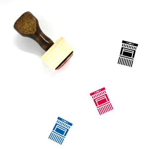 Ticket Office Wooden Rubber Stamp No. 11