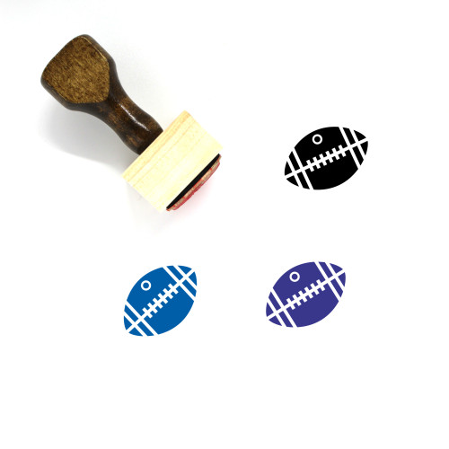 American Football Wooden Rubber Stamp No. 46