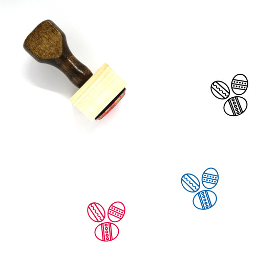 Easter Eggs Wooden Rubber Stamp No. 135