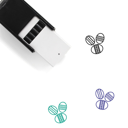 Easter Eggs Self-Inking Rubber Stamp No. 135