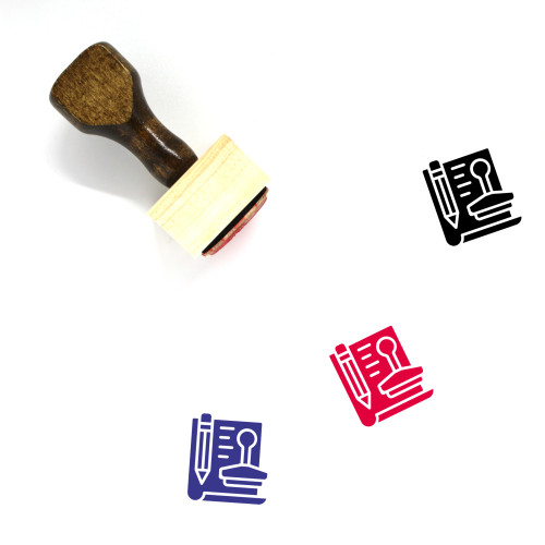Agreement Wooden Rubber Stamp No. 27