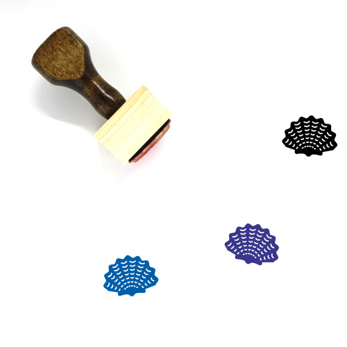 Sea Shell Wooden Rubber Stamp No. 8