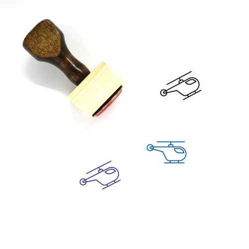 Helicopter Wooden Rubber Stamp No. 86