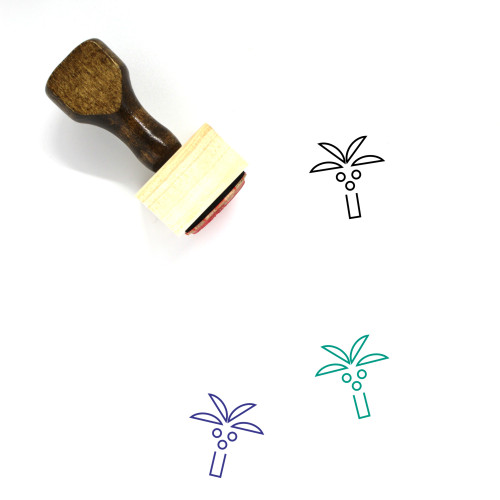 Palm Tree Wooden Rubber Stamp No. 188