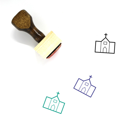 Church Wooden Rubber Stamp No. 202