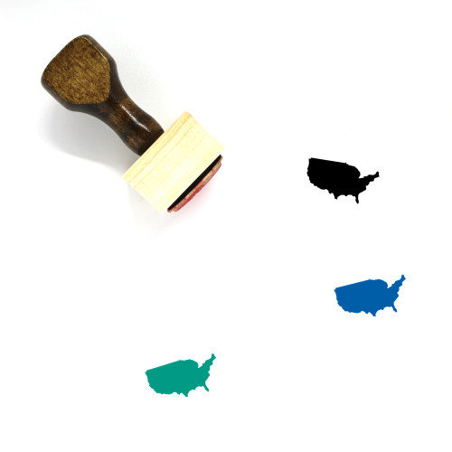 America Wooden Rubber Stamp No. 24