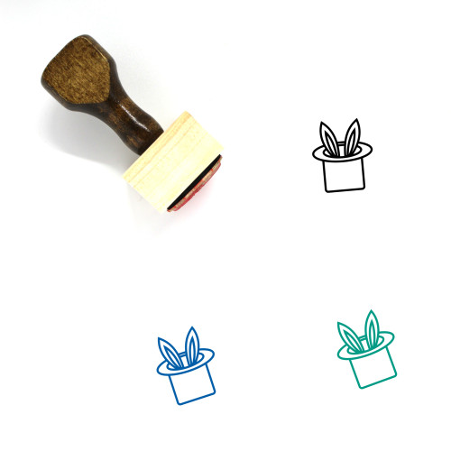 Rabbit Wooden Rubber Stamp No. 256