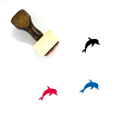Dolphin Wooden Rubber Stamp No. 22