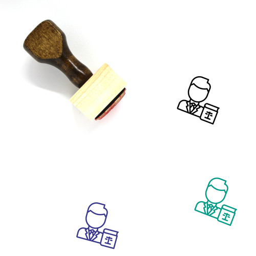 Lawyer Wooden Rubber Stamp No. 49