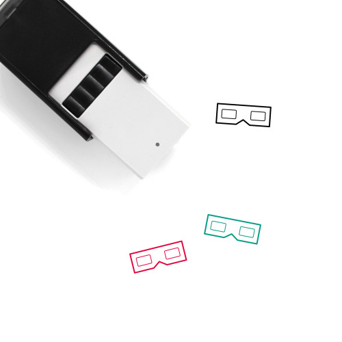 3D Glasses Self-Inking Rubber Stamp No. 33