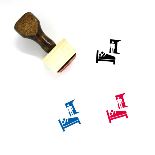 Cheating Wooden Rubber Stamp No. 1