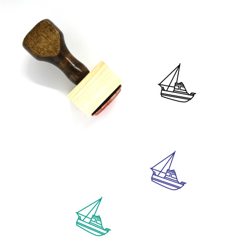 Trawler Wooden Rubber Stamp No. 3