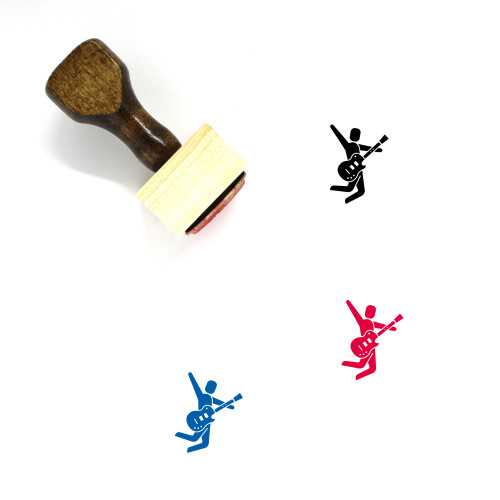Rock Star Wooden Rubber Stamp No. 3