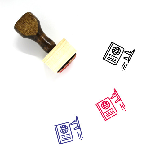Immigration Wooden Rubber Stamp No. 6