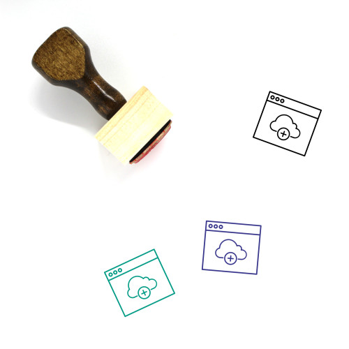 Add Cloud Wooden Rubber Stamp No. 19