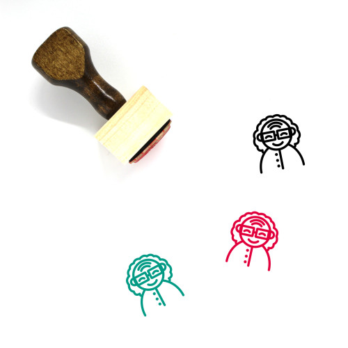 Grandmother Wooden Rubber Stamp No. 7