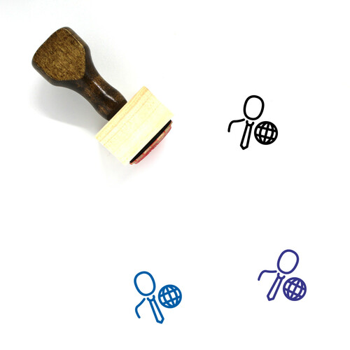 Business User Wooden Rubber Stamp No. 1