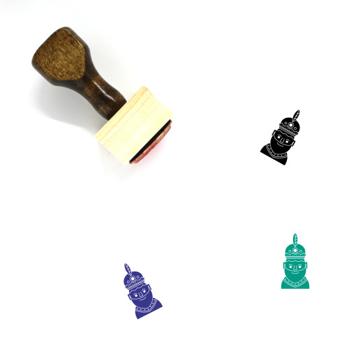 Three Kings Wooden Rubber Stamp No. 2