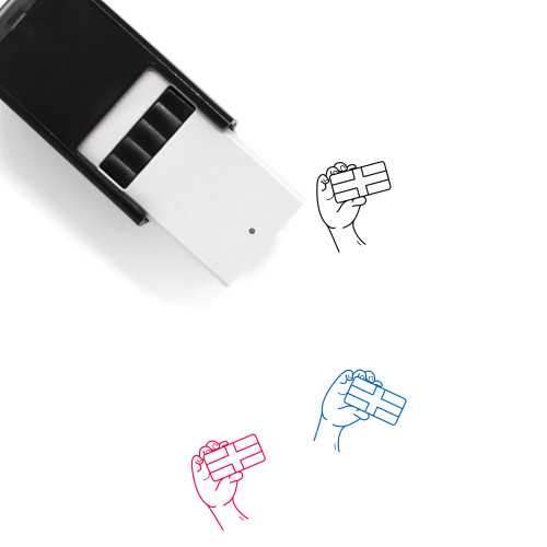 Island Flag Self-Inking Rubber Stamp No. 2