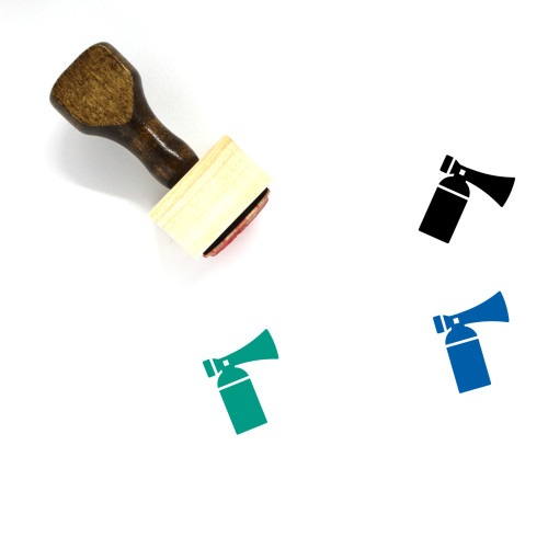 Air Horn Wooden Rubber Stamp No. 4