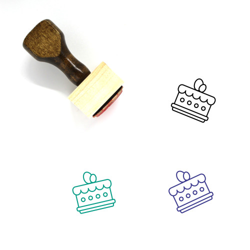 Easter Cake Wooden Rubber Stamp No. 30