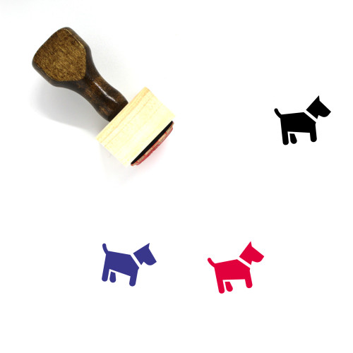 Dog Wooden Rubber Stamp No. 127