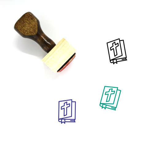 Bible Wooden Rubber Stamp No. 82
