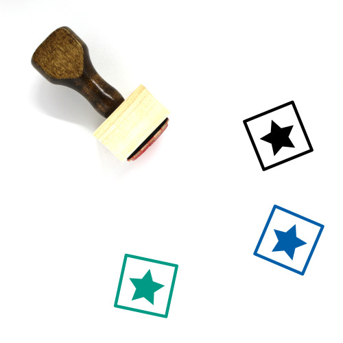 Star Wooden Rubber Stamp No. 815