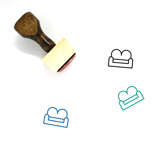 Sofa Wooden Rubber Stamp No. 22
