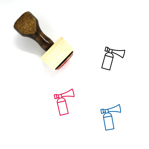 Air Horn Wooden Rubber Stamp No. 5