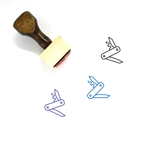 Army Knife Wooden Rubber Stamp No. 13