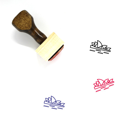 Sydney Opera House Wooden Rubber Stamp No. 20