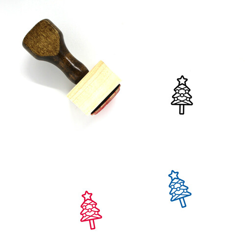 Christmas Season Wooden Rubber Stamp No. 1