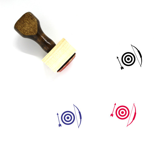 Archery Wooden Rubber Stamp No. 19