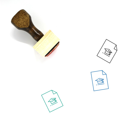 Academic Degree Wooden Rubber Stamp No. 11