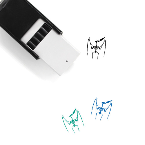 Pterodactyl Skeleton Self-Inking Rubber Stamp No. 1
