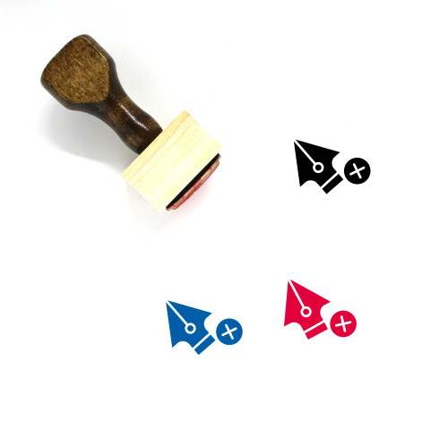 Add Anchor Point Wooden Rubber Stamp No. 14