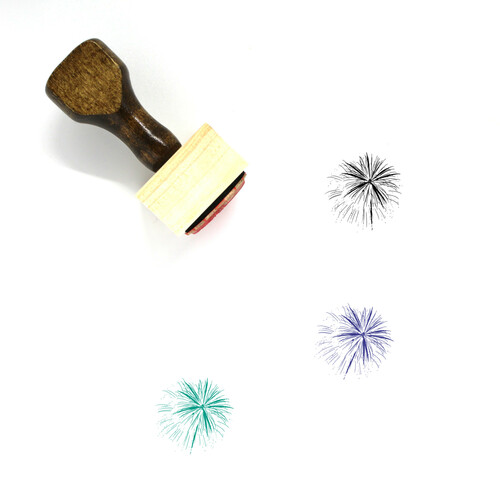 Fireworks Wooden Rubber Stamp No. 118