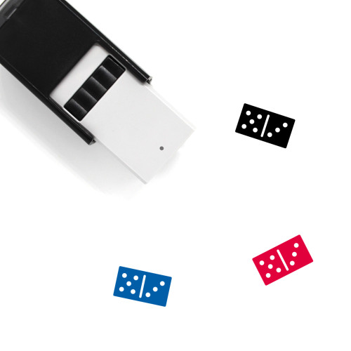 Domino Self-Inking Rubber Stamp No. 1
